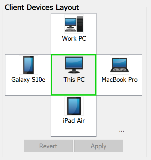 Simultaneously controllable up to 4 client devices