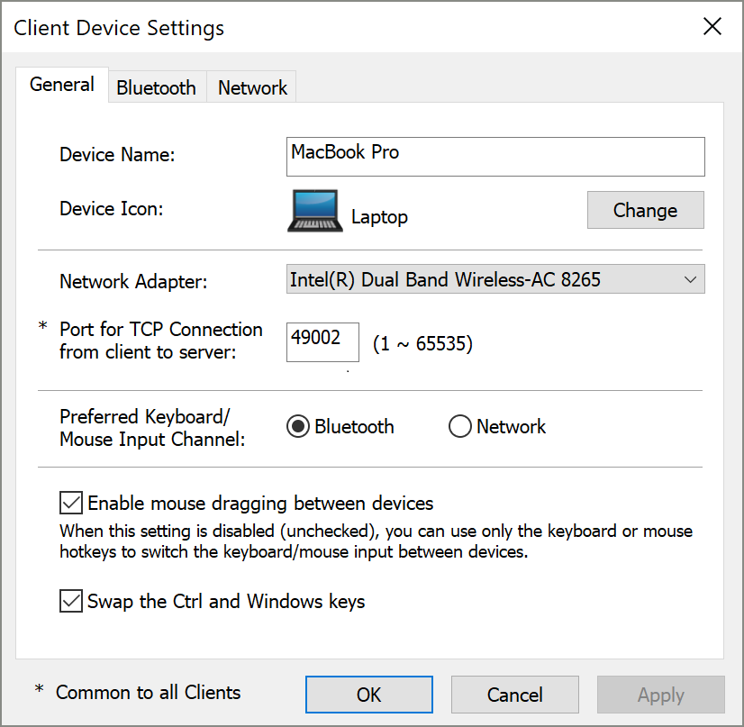 Client Computer Settings for Dialog