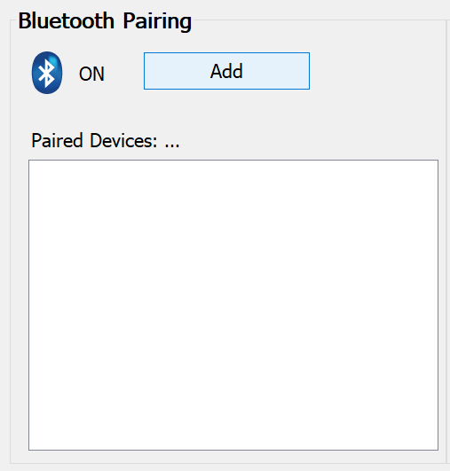 Start Bluetooth pairing