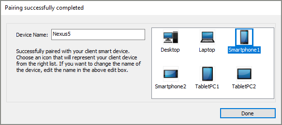 Bluetooth pairing success