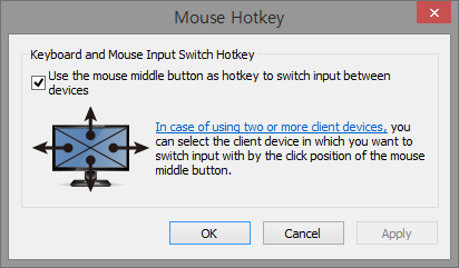 Mouse Hotkey Setting Dialog Box