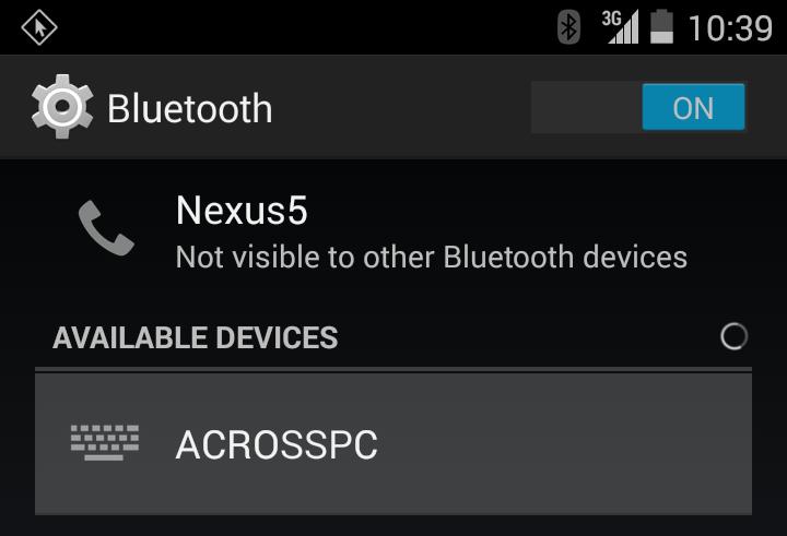 across   Keyboard/Mouse Sharing App   Bluetooth Keyboard