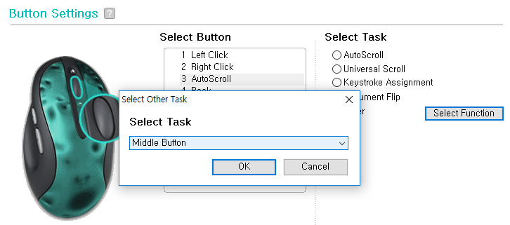 Scroll wheel/middle mouse button does not seem to work
